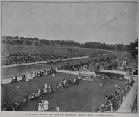 A.R.C. spring meeting: view from the grandstand, showing finish of the Musket Stakes.