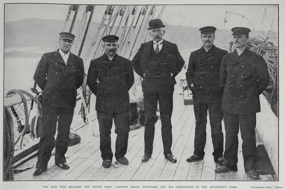 Captain Roald Amundsen and his companions