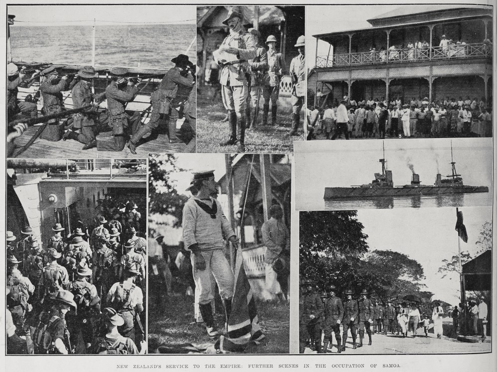 New Zealand's service to the Empire: Further scenes in the occupation of Samoa. - Auckland Libraries