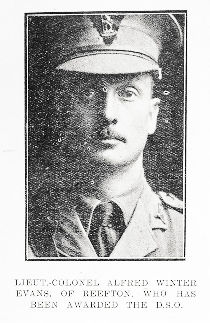 Lieut-Colonel Alfred Winter Evans of Reefton, who has been awarded the D S O. - Auckland Libraries