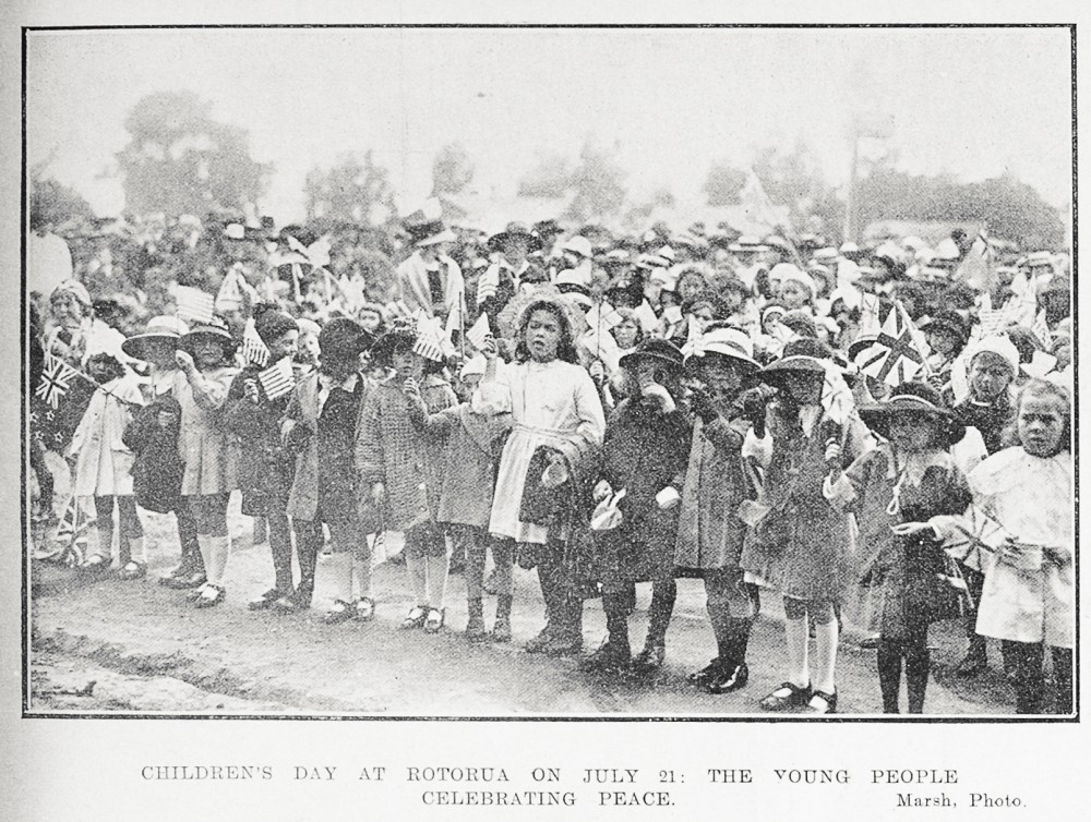 Children's day at Rotorua on July 21: the young people celebration peace. - Auckland Libraries