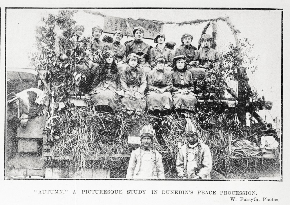 'Autumn'. A picturesque study in Dunedin's peace procession. - Auckland Libraries