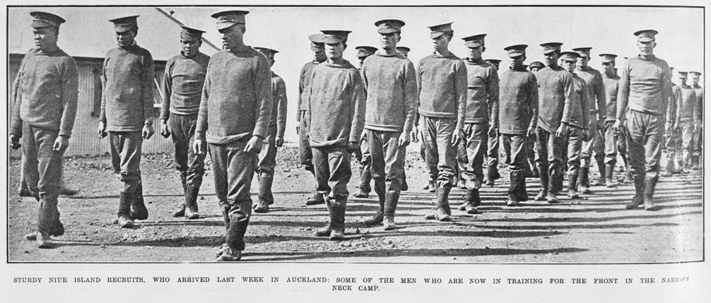 Niue Island First World War recruits