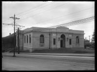 Showing exterior view of the Parnell Public Library.....