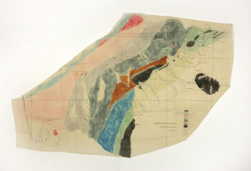 Julius Haast's geological sketch map of Canterbury