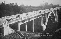 Postcard of Grafton Bridge.