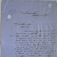 Letter to Sir George Grey.